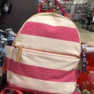 Tommy Hilfiger Classic Stripe Backpack Woven Rugby